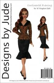 "Continental Evening for 16"" Kingdom Dolls PDF"