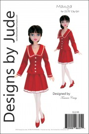 "Manga Pattern for 15.75"" City Girl PDF"